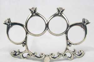 Diamond Ring Brass Knuckles Will Keep Cheating Men In Line