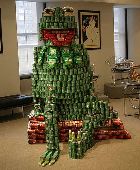 Canned Food Kermits - Annual International 'Canstruction' Food Drive Returns