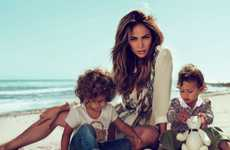 Celeb Family Fashion Ads - The Jennifer Lopez Gucci Campaign Also Stars Twins Max & Emme