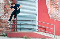 Skateboard Trick Lookbooks - The DQM New York FW10 Collection Taps Pro Skaters as Models