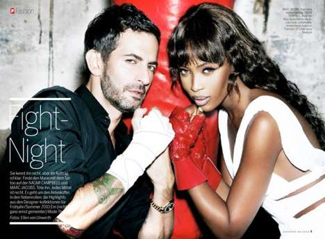 Couture Combats - Marc Jacobs and Naomi Campbell Tough it Out in Stern FW 2011