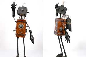 Adorable Sculptures by Mike Rivamonte Depict Wall-E-esque Buddies