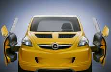 Winged Compact Cars - The Opel Trixx Puts a Whole New Face on the Four-Door Hatchback
