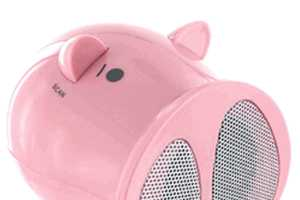Little Pig Speakers Use USB or Battery Power