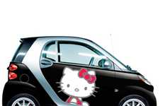 Purr-tastic Engines - These Hello Kitty Smart Cars are Cute and Petite