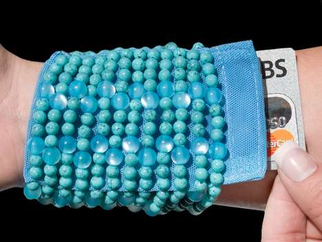 beaded wrist wallets