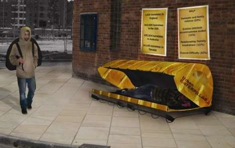 Homeless Sleeping Pods - The Urban Catepillar by Abby Brazier Shelters the Less Fortunate