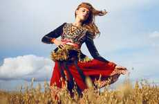 Prettied Prairie Pictorials - The Elle Sweden Frida Gustavsson Spread Graces the Farm Lands