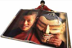 The Giant Book of Bhutan Stands in at Seven and a Half Feet Tall