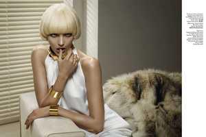 Anja Rubik Poses for Vogue Russia November 2010