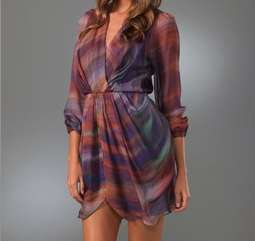 Satine Drape Wrap Dress