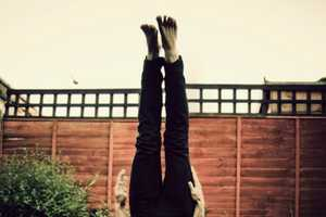 Stephen Morris Headstand Photography Shows Life Upside Down