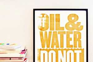 The 'Oil & Water Do Not Mix' Posters by Happiness Brussels