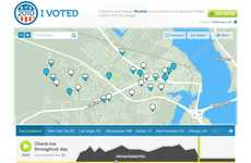 Social Media Voting Badges - The Foursquare 'I Voted' Campaign Aims to Get Youth to the Polls