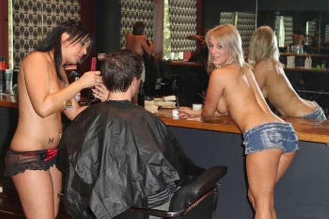Boob-Baring Barbers