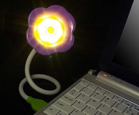 usb flower aroma light