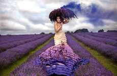 Surreal Flora Spreads - Kirsty Mitchell Shoots a Perfect Purple Pictorial