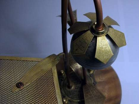 steampunk solar lamp