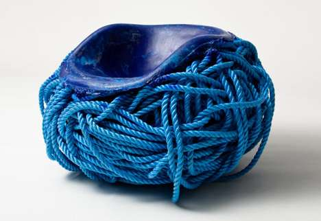blue rope serpentine bench
