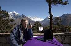 Lofty Wireless Connections  - Mount Everest 3G Services are Now in Operation at the Base Camp