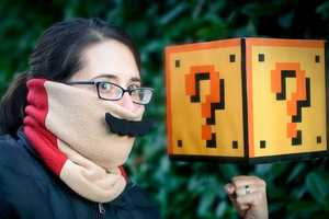 Snuggle into the Mario Mustache Neck-Warmer to Feel Warm and Have Fun