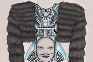 Tara Dougans Creates Creepy Haute Couture Sketches