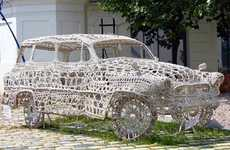 Craftily Spun Vehicles - The Doily Car Will Make Your Grandmother's Jaw Drop