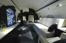 Movie Theater Jets - The Gulfstream III Includes a 42-Inch HD LCD Screen