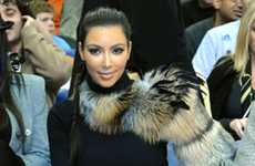 One-Shouldered Fur Shrugs - Kim Kardashian Fur Obsession is on the Rise