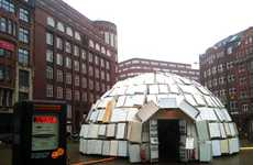 Recycled Igloos - A Giant Igloo Consisting 300 Old Refrigerators is Erected in Hamburg