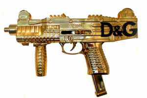 Peter Gronquist Strikes Again with Designer Gold Guns