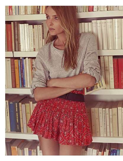 Casual Prepster Style - The Isabel Marant Spring Lookbook Stars Snejana Onopka