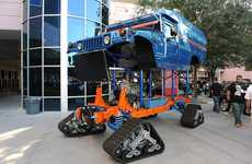 Zero South's Biodiesel Electric Hummer Rides on Tracks