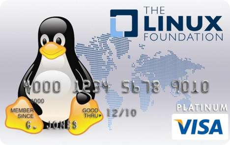 Geeky Credit Cards - The Linux Foundation Visa Card Raises Money for OS Nerds