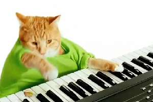 Music-Playing Feline Ads - Keyboard Cat Does World Series Pistachios Ad and Meets Celebrities