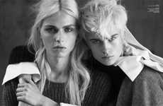 Gender-Bending Gemini Spreads - Identical Androgynous Models for Vogue Turkey