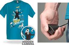 Clever Covert Tees - The Electronic Spy Camera Shirt Hides Its Spycam Flawlessly