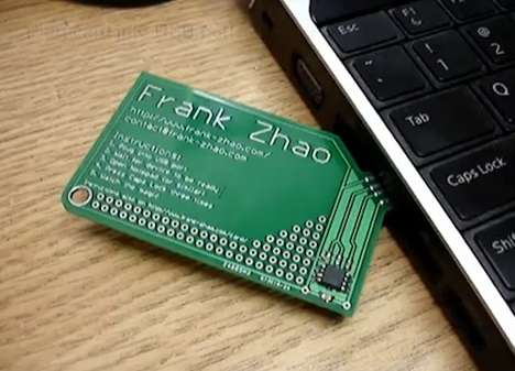 Self-Promoting Gadgets - The USB Business Card Stores Frank Zhoa's Information