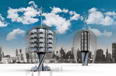 Eco-Car Sharing Towers - The Smart Tower Encourages Urban Auto Sharing