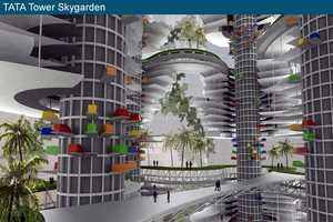 Mumbai's Tata Tower Combines Living Spaces and Vertical Parking
