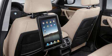 Car Manufacturer Gadget Mounts - BMW Connectivity Accessories for iPad and iPhone Devices