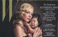Celeb Family Covers - Katherine Heigl Shows Love for her Baby in W Magazine