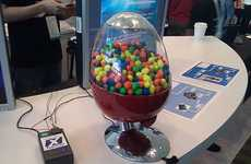 Tweeting Gumball Dispensers - Paypal Vending Machine Wipes Out Coin-Operated Machines