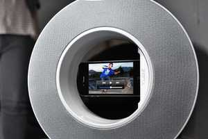 The Yubz Rotating Speaker is a Roundabout Viewing Design