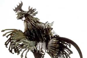 These Edouard Martinet Metal Sculptures Scrap it Out
