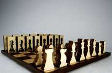 Woodcut Game Sets - The Sustainable Chess Set is Made from Only One Sheet of Plywood