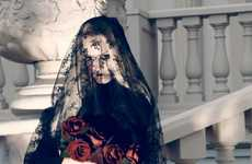 Dark Bride Editorials - Camilla Akrans Shoots Anna Jagodzinska for Vogue Nippon