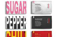 Seasoning Selfvertising - Tell Others Your Flavor with These Condiment Business Cards