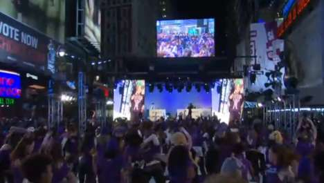 Times Square Kinect Launch