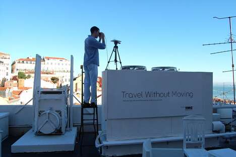 Stationary Traveling Exhibits - Torke's 'Traveling Without Moving' Installation for Pop Up Lisbon